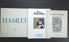 Lot:brochures:Hamlet/Gielgud'64,Les Misérables'64,La Comédie-Française'70INV2162