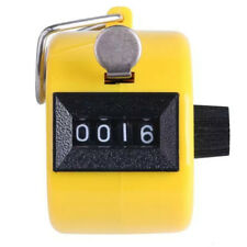 Mini Color Digital Hand Held Tally Clicker Counter 4 Number Pedometer yellow