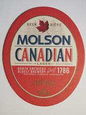 Beer Coaster: MOLSON Brewery Canadian Lager ~ North Americas Oldest, Since 1786