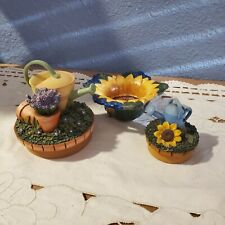Our America Topper Lot Yankee Candle Tea Light  Watering Can Lavender Flowers