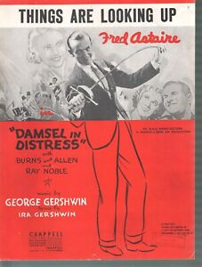 Things Are Looking Up 1937 Damsel In Distress Fred Astaire Sheet Music