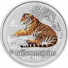 Australia 2010 Year of Tiger $30 1 Kilogram Silver Kilo Color w/ Topaz Gemstone