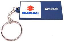 Suzuki Logo Way of Life! Rubber Key Ring Keyring New Genuine 990F0-WAYOL-KEY