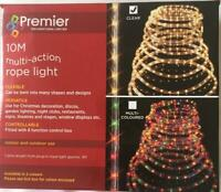 Premier Christmas Xmas Party 10m Multi Action Indoor/Outdoor Rope Light Clear