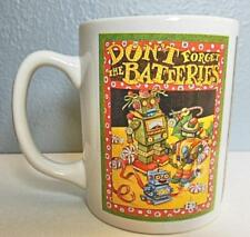 "Mary Engelbreit Mug ""Don't Forget the Batteries"" 4"" Vintage 1995"