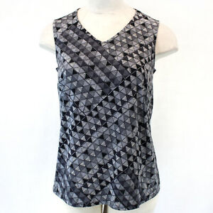 AnyWear by Catherines Plus Geo Print Tank Top Blouse 2X,22/24W Spring Summer