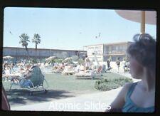 Amateur  photo slide Las Vegas NV 1950s or 1960s Stardust Casino pool