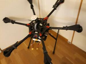 RC DJI S900 Spreading wing Multicopter mit A2 Flight controller + 2x Batt 6S BNF