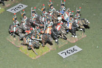 25mm napoleonic / french - guard chasseur a cheval 12 cavalry metal - cav (7636)