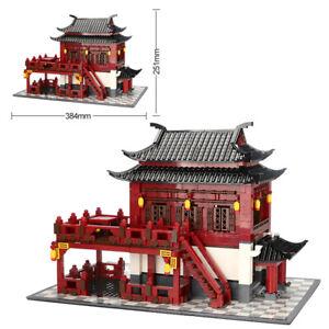 Wange Building Blocks  China Ancient Hotel  Architecture Bricks House Model Toys