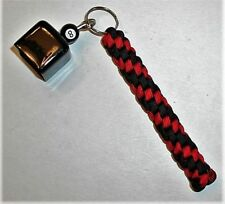 Billard Pool Cue Chalk Holder Made Of Paracord, Imperial Red & Black In Color