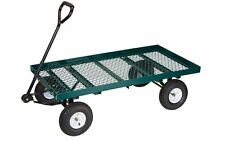 Heavy-Duty Garden, Landscape, Farm Steel Wagon Utility New Equipment, Tool Cart