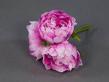 Pfingstrosen-Bund mit 3 Blüten 20cm rosa-pink DP künstliche Blumen Kunstblumen