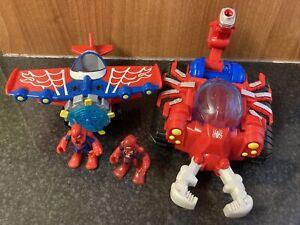 Spider-man Playskool Heroes Scorpion Tank & Plane Bundle With Figures