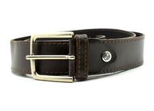 Timberland Original Mens Jeans Leather Belt Brown Size M (38)