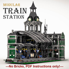 Modular Train Station- costum LEGO building Instructions- PDF files only!