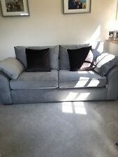 Next Garda Large Sofa Antique Velvet Light Grey