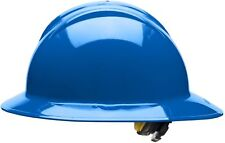 Bullard Full Brim Hard Hat with 6 Point Ratchet Suspension, Blue
