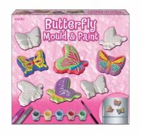 MOULD AND PAINT BUTTERFLY PLASTER KIT KIDS CREATIVE ACITIVITY TOY BIRTHDAY GIFT