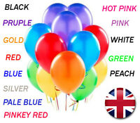 "100PCS HELIUM BALOONS Latex Balloons 10"" Wedding Birthday Party CHRISTENING"