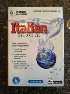 Instant Immersion Italian Deluxe v3.0 Language Learning Software
