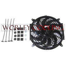 """16"""" inch PULL/PUSH RADIATOR Electirc Thermo Curved Blade FAN & MOUNTING New 12V"""