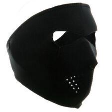 Neoprene Full Face Reversible Biker Skateboard Motor Bike Scary Sports Mask BLK