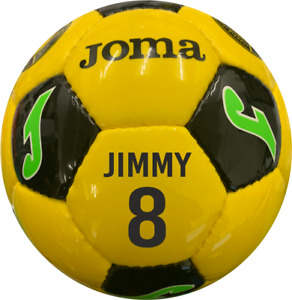 PERSONALISED PRINTED JOMA SUM INTER FOOTBALL - size 4 YELLOW  1 PANEL PRINT