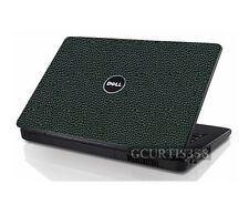 LEATHER Vinyl Lid Skin Cover Decal fits Dell Inspiron 1545 1546 Laptop