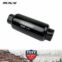 Proflow 40 Micron -8AN Black Billet Reusable Fuel Filter Stainless Element -8