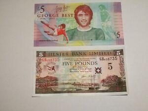 2006 £5 Ulster Bank  : George Best + Original Wallet : UNCirculated : GB698735 *