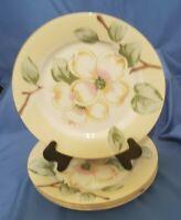 "Fairfield Set of 4 DOGWOOD ""Floral' Print- 8"" Salad Plates 3457652"