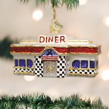 OLD WORLD CHRISTMAS DINER 1950's RETRO DINER GLASS CHRISTMAS ORNAMENT 20071