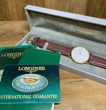Mens 1999 LONGINES La Grande Classique Quartz Gold P Watch L4.637 Box Paperwork