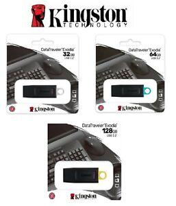PENDRIVE KINGSTON 32 GB 64 GB 128 GB CHIAVETTA USB 3.2 GEN 1 MEMORIA EXODIA DTX