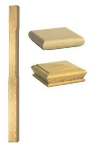 Stair Stop Chamfer Newel 1500mm Post - Solid Wood - Oak Quality Uk Manufactured!