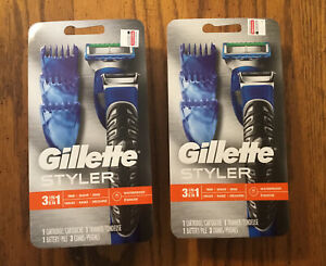 LOT of 2 NEW Sealed Package GILLETTE Fusion Proglide STYLER 3 in 1 Trimmer Mens