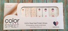 Color Street Sugar Lane 100% Real Nail Polish Strips NEW HTF Cupcake Birthday