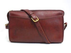 Vintage Coach Taylor Zip Crossbody/Shoulder Bag Burgundy Leather #9944 USA