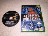 Legends of Wrestling (Microsoft Xbox, 2002) Original Release Game in Case Exc!