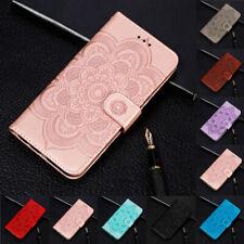 Para iPhone 7 8 XR Xs Max Girasol Flip con Soporte Tarjeta Billetera Cuero Cubierta para Estuche de TPU