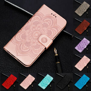 For iphone 7 8 XR XS Max Sunflower Flip Stand Card Wallet Leather TPU Case Cover