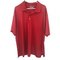 Grand Slam Adult Mens Performance Athletic Golf XXL 2XL Red Polo Shirt