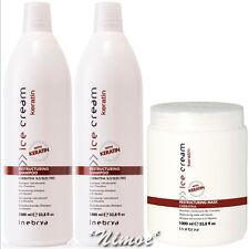 Restructuring KitPro Ice Cream 1 Keratin Mask 1Lt + 2 x Shampoo 1Lt Inebrya ®