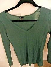 CASHMERE SWEATER WOMEN'S BRAND THEORY SIZE S/P GREEN