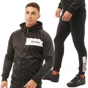 Bench Men's Irwin Tracksuit A Black Size Large New With Tags