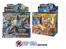Sun and Moon Guardians Rising + Base Set Booster Boxes Pokemon TCG Sealed