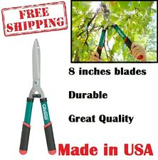 Sharp Hedge Clippers 8 Inch Blades Coated Garden Grass Cutters Manual Shears New