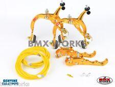 Dia-Compe MX1000 - MX120 Gold Brake Set - Old Vintage School BMX Style Brakes