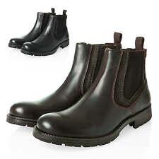 Jack & Jones Herren Chelsea Boots Stiefeletten Echtleder Stiefel Lederschuhe